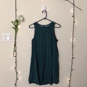Cute green shift dress !